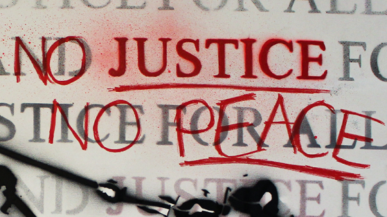 """Preview of the artwork """"NO JUSTICE NO PEACE."""""""